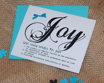 Greeting Card - Definition of Joy with Rhinestones
