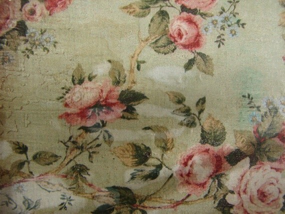 Vintage floral wallpaper imagefrench shabby chic roseslarge for Old french wallpaper