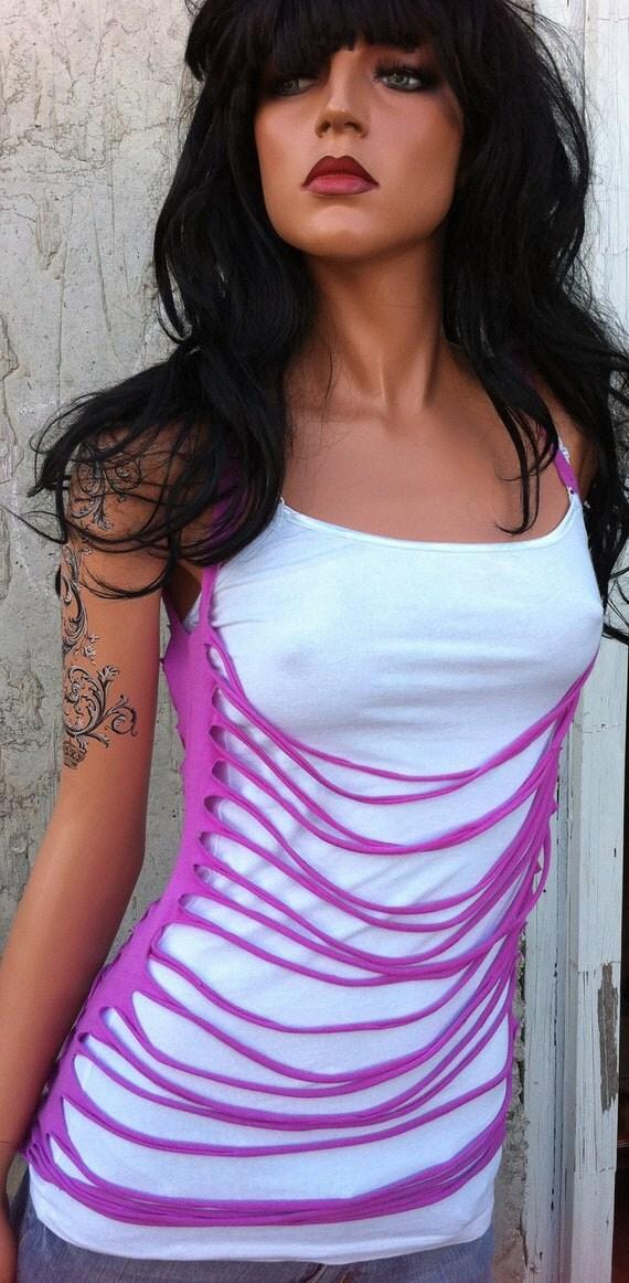 Neon Purple Slit Shirt