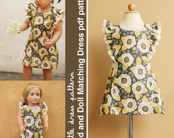 Anya Kid and Doll Matching Dress - PDF Pattern, PDF Downloadable, Easy Pattern