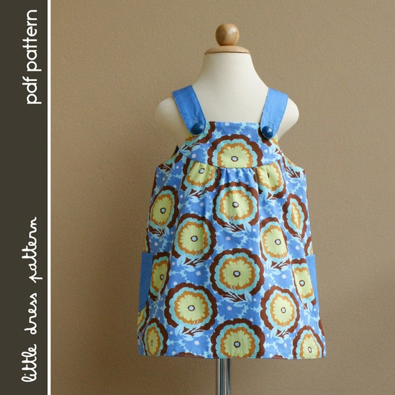 Payton Reversible Dress - PDF Pattern - Size 12 months to 8 years old and tutorial, PDF Downloadable, Easy Pattern