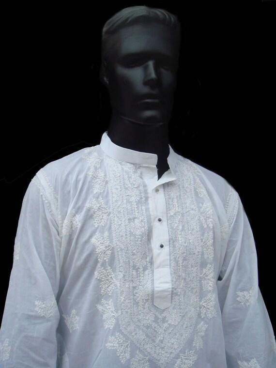 White Kurta White Mens Long Kurta Shirt