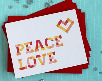 Plaid Holiday Cards : Heart Box of 8