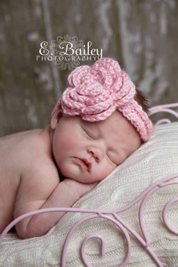 Crochet Pattern For Baby Wrap : Items similar to Crochet Headband Flower / Baby Headband ...