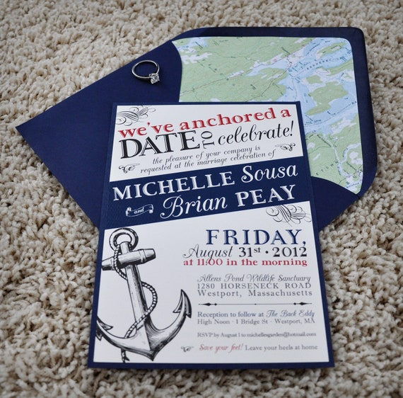 Nautical Wedding Invitation By CoppiaCreativa On Etsy