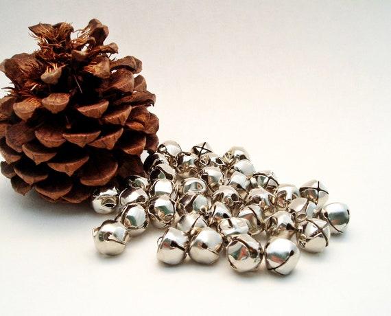 Jingle Bells Silver Bells Pack of 36 Christmas Half Inch Christmas Bells