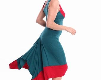 "Tango Dress ""Contrast"" in Custom Color, Tango Dresses in Custom Size, Custom Tango Clothing, Tango Clothes"