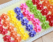 Cupcake Toppers 120 Edible Cupcake Toppers RAINBOW MIX royal icing flowers, Rainbow Party, Circus Party,  Carnival Party
