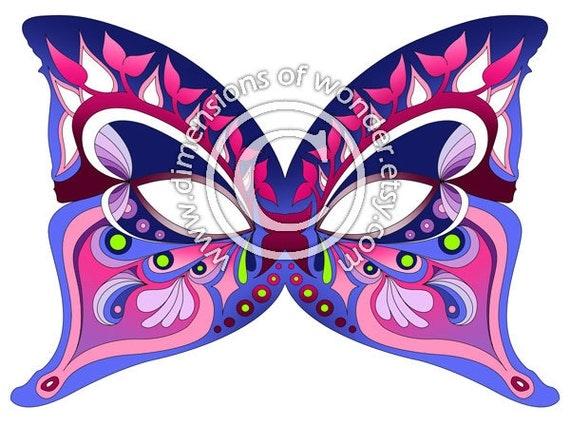 Как сделать маску бабочки