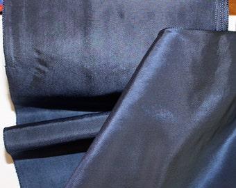 "6 1/4"" x 1 yard wide  Navy Blue Taffeta - Rayon Blend - Made in Switzerland"