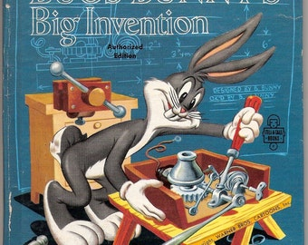 Bugs Bunnys Big Invention Vintage Whitman Tell A Tale Book Illustrated by Warner Brothers Cartoons