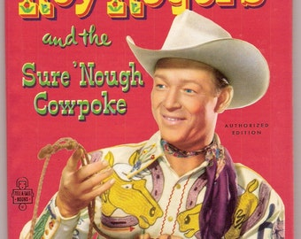 Roy Rogers and the Sure Nough Cowpoke Vintage Whitman Tell A Tale Book Illustrated by Randy Steffen