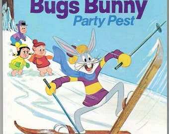 Bugs Bunny Party Pest Vintage Whitman Tell A Tale Book Illustrated by Al Andersen and Thomas J McKimson