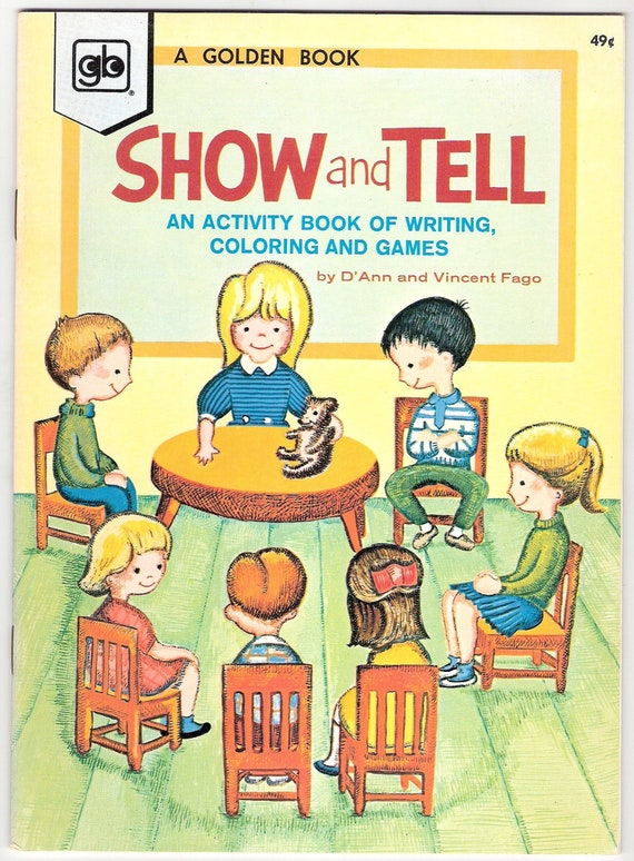 SHOW and TELL Vintage Golden Book of Writing, Coloring, and Games by D'Ann & Vincent Fago