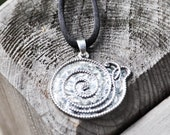 Snail Necklace - Sterling silver, FREE SHIPPING