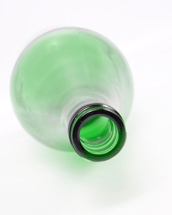 Vintage Emerald Green Glass Bottle Large Wine Bottle 1.5 Liter... Le Vintage Galleria