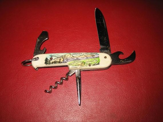 Vintage Souvenir Pocket Knife Banff Gondola Liftbanff