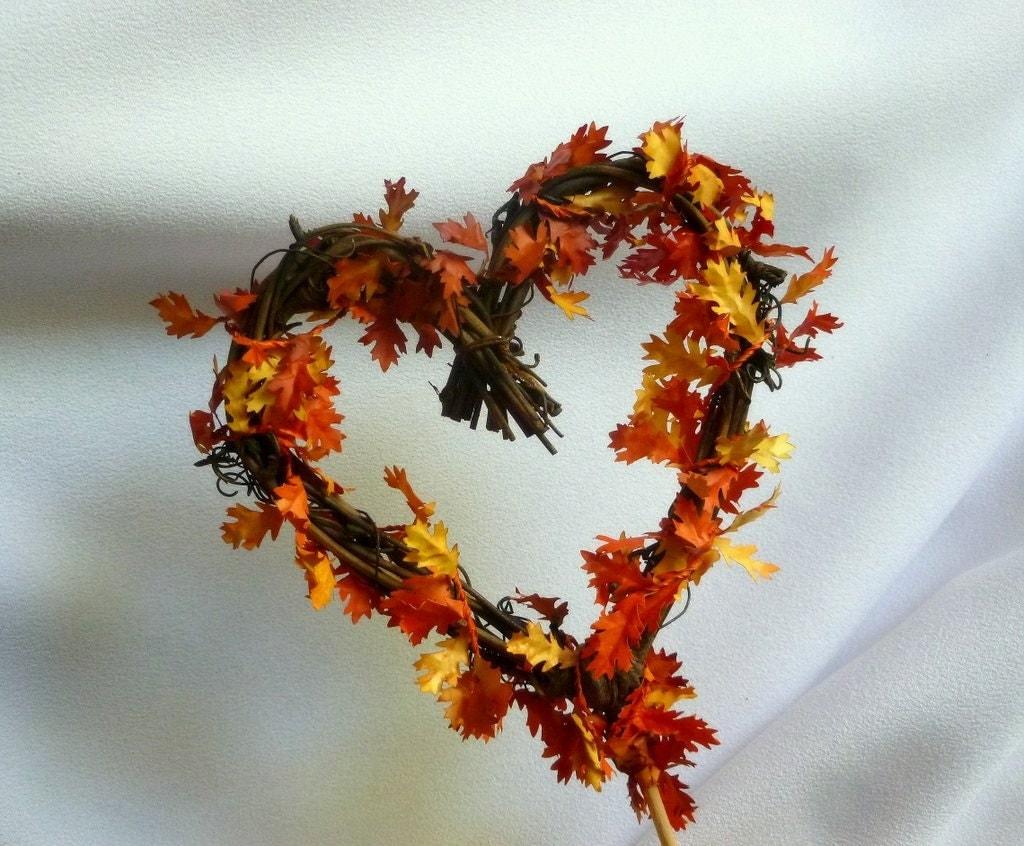 Fall Cake Topper Vine & Leaves Wedding Decor by HandmadeAffair