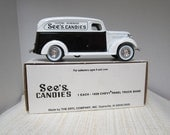 See's Candy 1938 Chevy Panel Truck  Coin Bank C.1980