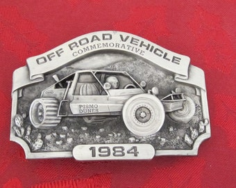 Pismo Dunes  Commemorative Mens Belt Buckle, Off Road Vehicle, FATHERS DAY