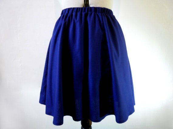 Indigo blue skirt mini a line