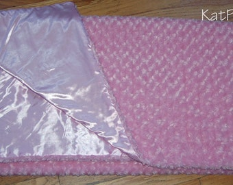 Super soft blanket - Soft Plush Swirl fur & satin backing