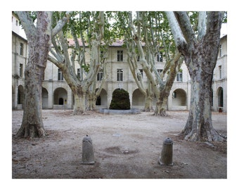 Avignon Courtyard Photo Print