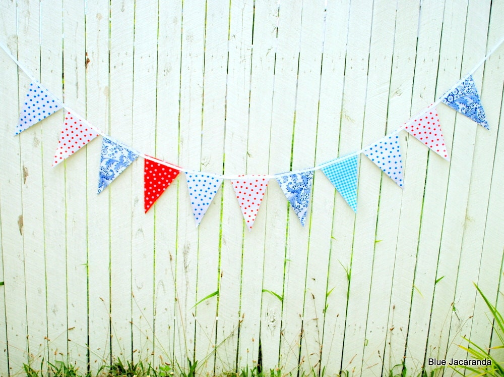 how to make oilcloth bunting