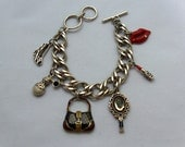 Lady's Best Friends Antiqued Silver Plated Charm Bracelet or Anklet