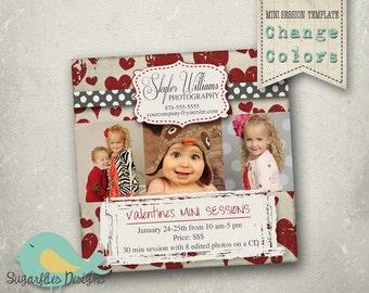 5x5 Valentines Mini Sessions Template - Mini Photoshoot 7