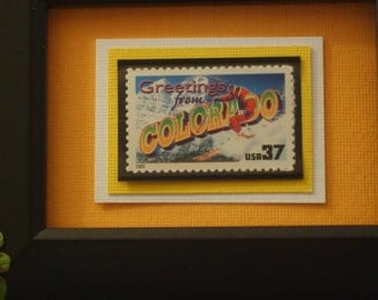 Greetings from Colorado Framed Postage Stamp - No. 3566/3701