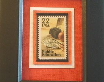 Honoring Public Education - Vintage Framed Stamp - No. 2159