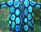 jacket /cardi, crochet, gorgeous colours
