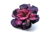 Purple Felt Brooch Felt Flower Brooch Purple Flower  Felted Brooch