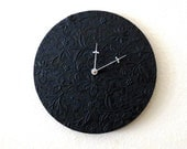 Large Wall Clock,  Home and Living, Black Wall Clock, Decor & Housewares, Living Room Decor, Unique Gift - Shannybeebo
