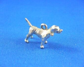 DOG CHARM - Retriever Irish Setter Beagle Hound - Sterling Silver Dog Charm - Rembrandt Charm
