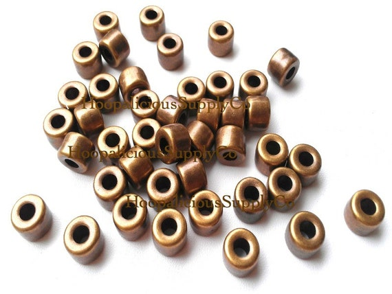Bronze tube spacer beads metal like colored acrylic