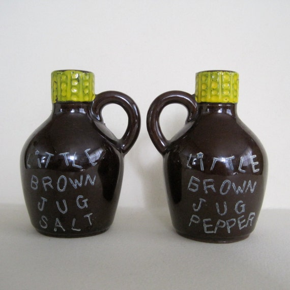 Little Brown Jug Salt Pepper Shakers