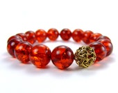 Limited Edition Amber Zen Bracelet for Calm Grounding - Anniversary Special