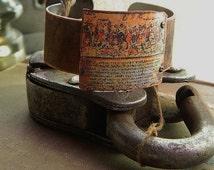 The Iliad jewelry bracelet Homer mixed media jewelry