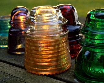 Fine Art Photograph of Antique Glass Insulators Photograph