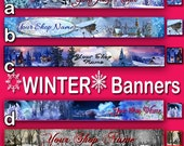 WINTER COLLECTION Etsy Shop Banners, Etsy Banner, Shop Banner, Premade Banner