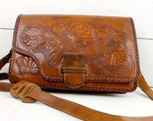 Vintage Gaitan Mexican Tooled Purse Leather Bag