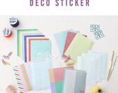 Washi Masking Tape 24 Sheets Korea Pretty Sticker Set - Colorful Paper Tape-Masking Deco