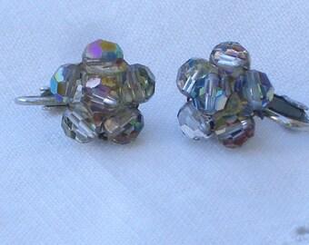 Earrings - Crystals - Vintage