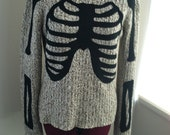 Tan and Black Skeleton Sweater