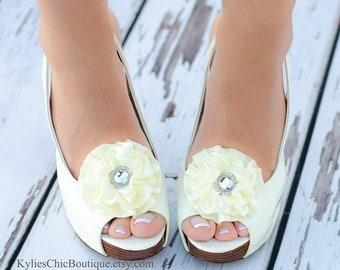 Cream Shoe Clips - Wedding, Bridesmaid, Date Night, Party, Everyday wear