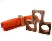 Reclaimed Wood Napkin Rings - Set of 4, free shipping, barn wood, handmade tableware, rustic wedding decor, modern dining