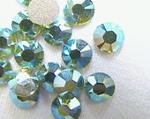 SALE Peridot AB Swarovski Elements Rhinestones 16ss Flat back  10 pieces