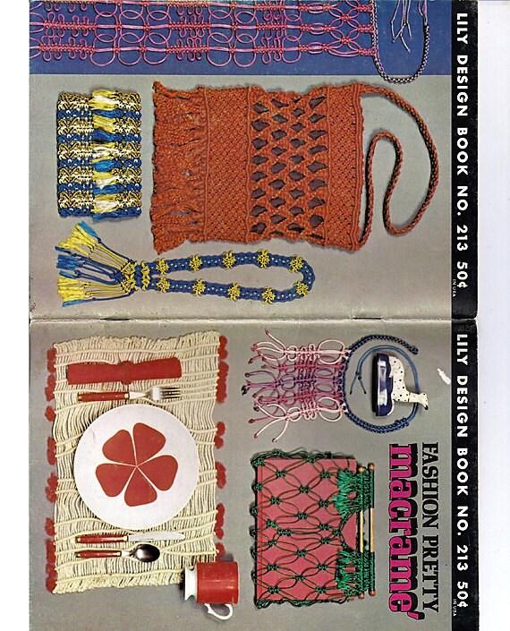 Fashion Pretty Macrame Pattern Book Lily Design book no 213